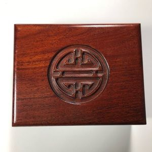 Authentic Chinese Solid Rosewood Jewelry Box